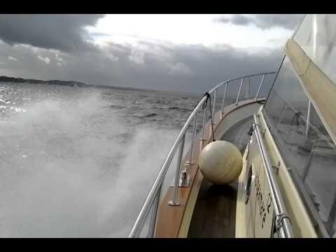 Flensburger Förde bei Windstärke 6