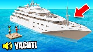 EXPLORING an ABANDONED YACHT! (Raft)