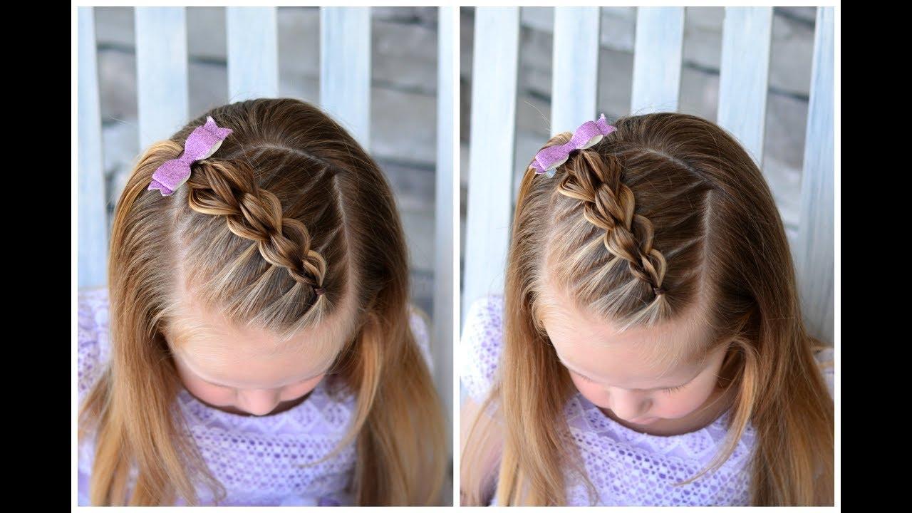 Hair Styles For Toddlers: Diagonal 3D/3 Strand Pull Through Braid