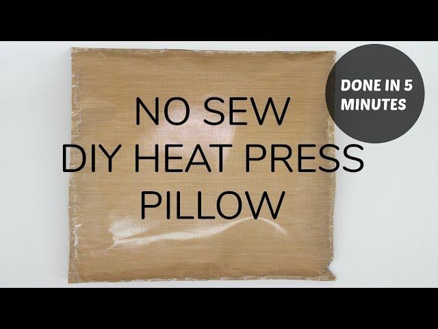 diy heat press transfer pillow no sew