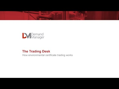 How environmental certificate trading works - by Demand Manager