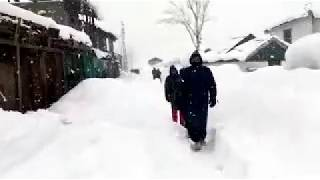 Snow storm Heigh lights in Jammu & Kashmir Neelum Valley Leepa LOC