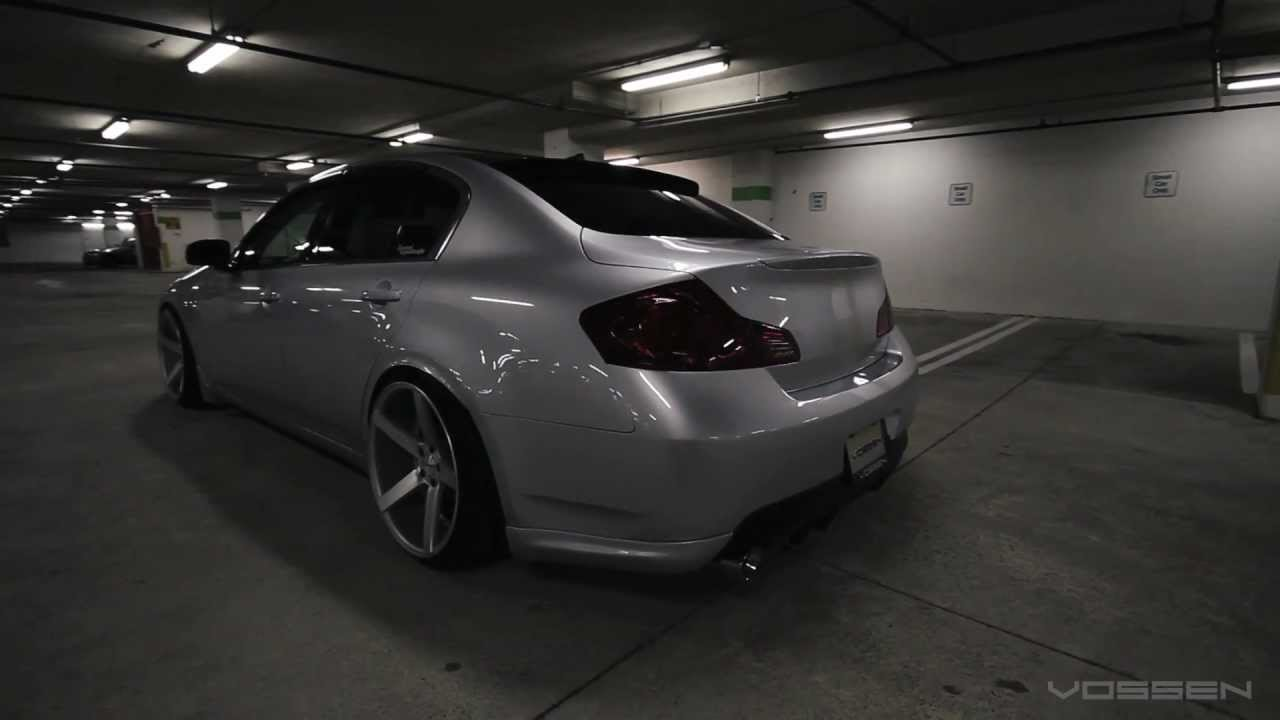 Infiniti g35 sedan on 20 vossen vvs cv3 concave wheels rims infiniti g35 sedan on 20 vossen vvs cv3 concave wheels rims youtube vanachro Gallery