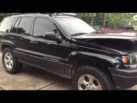 tensioner pulley, idler pulley, and serpentine belt replacement on a 2003 jeep  grand cherokee 4 0l - youtube