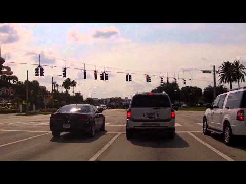 Driving down International Drive in Orlando Florida
