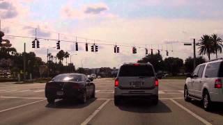 Driving down International Drive in Orlando Florida