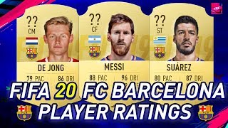 Fifa 20 | fc barcelona player ratings ft. messi, suarez, de jong... etc