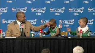 Isaiah thomas' sons steal the post game press conference