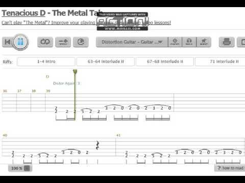 Tenacious D The Metal Guitar Tab Youtube