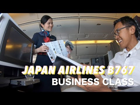 JAKARTA TO TOKYO NARITA WITH JAPAN AIRLINES BUSINESS CLASS B767-300