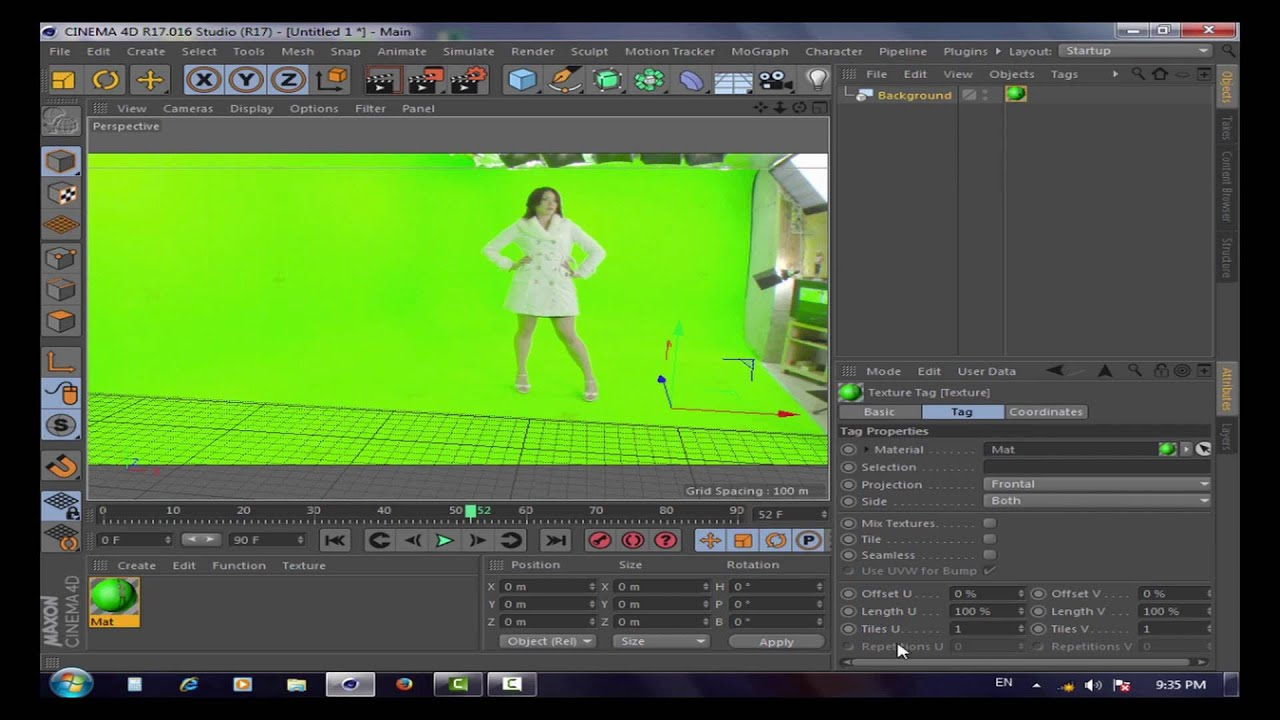 how to import video to cinema 4d as a background tutorial for beginners