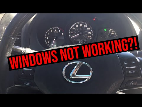 How to fix automatic windows on your Lexus or Toyota that don't work.
