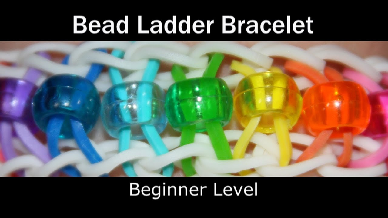 Rainbow Loom Bead Ladder Bracelet Youtube