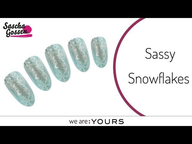 Frozen stamping nail art design