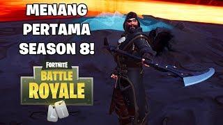 VICTORY ROYALE PERTAMA DI SEASON 8! - Fortnite: Battle Royale (Indonesia)