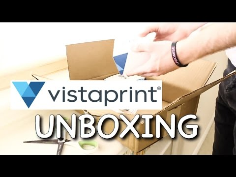Vistaprint unboxing business cards stickers