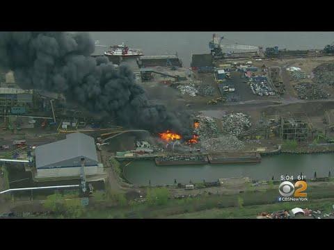 Massive Fire In Jersey City