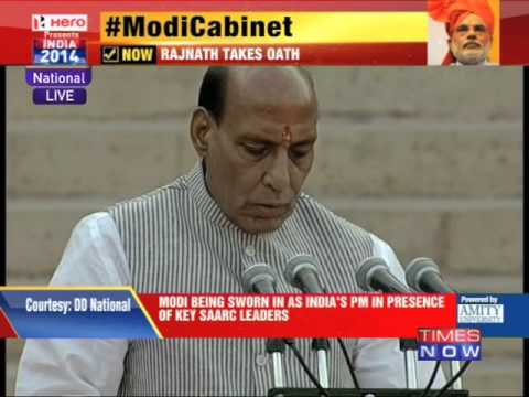 Rajnath Singh takes oath as member of Modi Cabinet