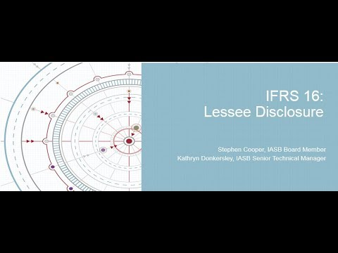 IFRS 16: Lessee Disclosures