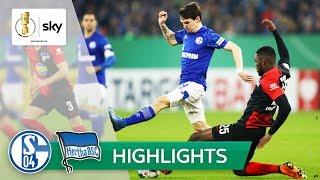 Schalke ringt Hertha ohne Trainer nieder | Schalke - Hertha 3:2 n.V. | Highlights - DFB-Pokal