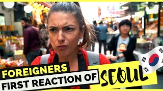 Foreigners reacting to Seoul, KOREA - Seoul Vlog