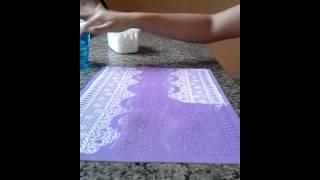 Como fazer renda em Biscuit com Marcella bolos
