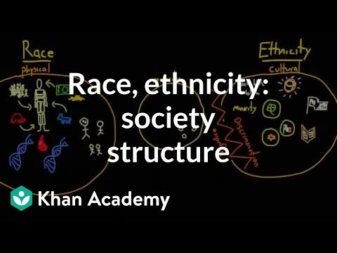 Demographic structure of society- race and ethnicity