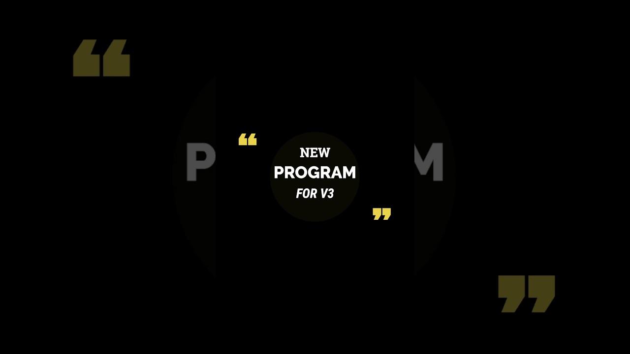 قريبًا  برنامج جديد لل v3