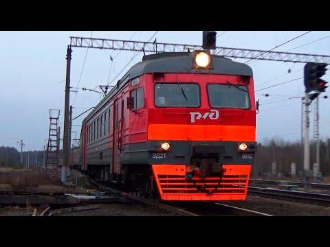 Электропоезд ЭД2Т-0042 по 3 пути станции Авсюнино!