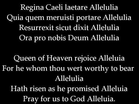 Catholic Hymnal: Regina Caeli laetare Allelulia