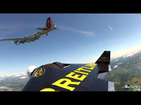 Caught on Tape: 'Jetman' Rides Along B17 With Jet-Propelled Wing Suit