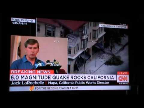 24/8/2014 - California  Emergency declared after 6.0 earthquake sends 89 to hospital in Napa