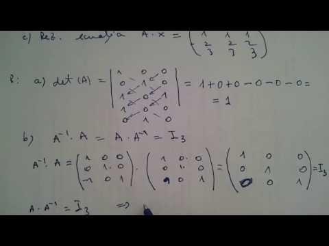 Matrice, Inversa pentru o matrice, ecuatii matriceale