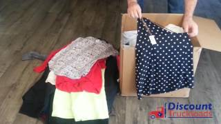 Unboxing Wholesale Clothing Discounttruckloads.com PS101