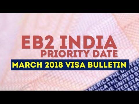 EB2 PRIORITY DATE INDIA - MARCH 2018 VISA BULLETIN