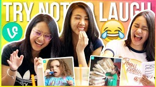  😂TRY NOT TO LAUGH OR GRIN CHALLENGE 2017! ft. ThatsBella & Lexy Rodriguez + Q&A!!😱 | Katie Tracy