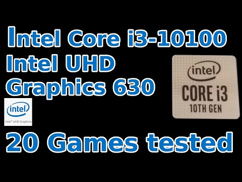 Intel Core i3-10100  Intel UHD Graphics 630  20 Games tested in 09/2020 (16GB RAM)