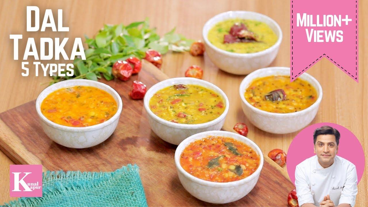 Download Indian Dal Fry 5 Types | दाल फ्राई करे के पंच आसन तारिके | Chef Kunal Kapur Recipes