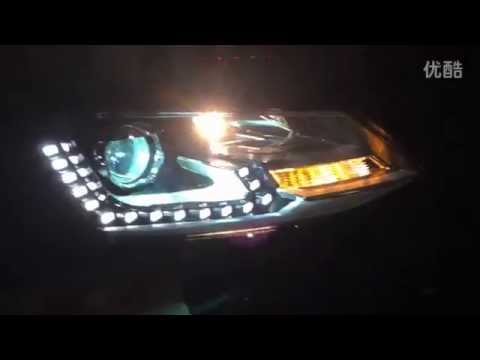 2011-2014 VW Jetta MK6 HID Headlamp with LED DRL and Bi-xenon Projector - YouTube