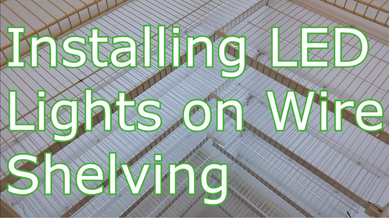 LED Lighting on Wire Shelving in Pantry or other closet on interior shelves, wood shelves, piping shelves, three shelves, plumbing shelves, concrete shelves, kitchen shelves, frame shelves, radiator shelves, parts shelves, security shelves, drywall shelves, blue shelves, welding shelves,