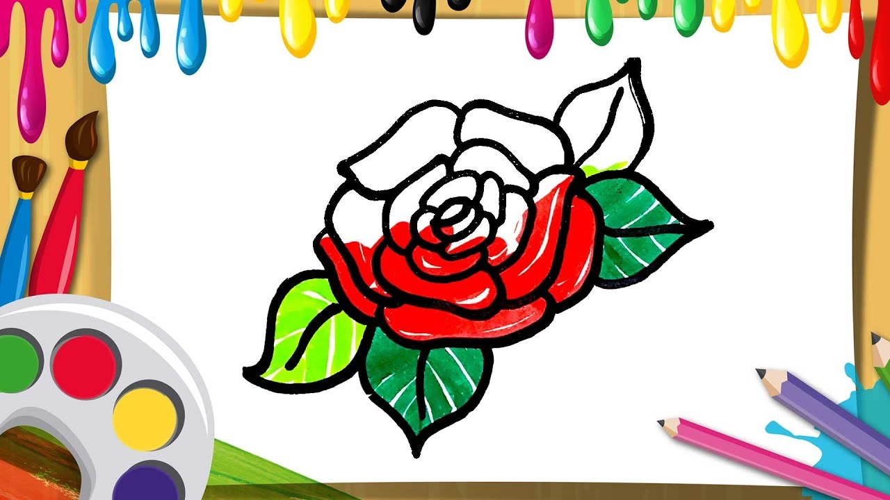 Nice Flowers To Color For Kids Crest - Drawing Coloring ...