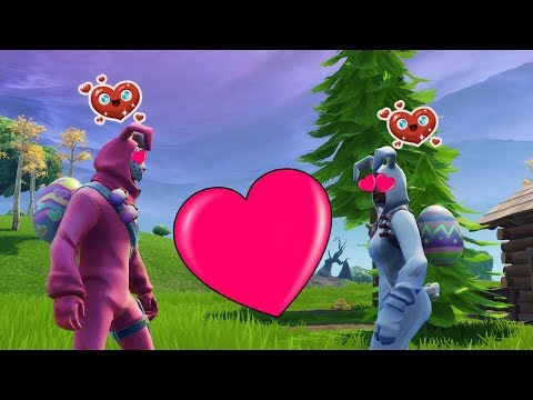 RABBIT RAIDER MEETS BUNNY BRAWLER *FORTNITE SEASON 6 SHORT FILM*