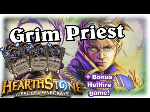 Priest Grim Patron Wreckage ~ Hearthstone Heroes of Warcraft Blackrock Mountain
