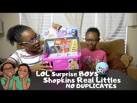 LOL Boys + Shopkins Season 12 Real Littles No Duplicates 18 Blind Bags