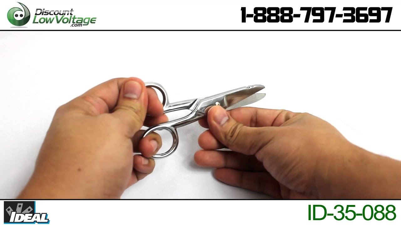 Ideal 35088 Electricians Scissors DiscountLowVoltage YouTube – Low Voltage Electricians