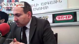 Armenian opposition member press conference