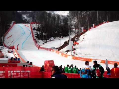 В финишной зоне горнолыжный спуск Паралимпийские игры Сочи 2014