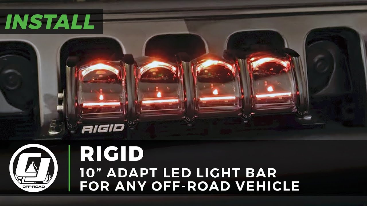 2018 2019 Jeep Jl Wrangler Install Rigid Industries 10 Inch Adapt Led Light Bar