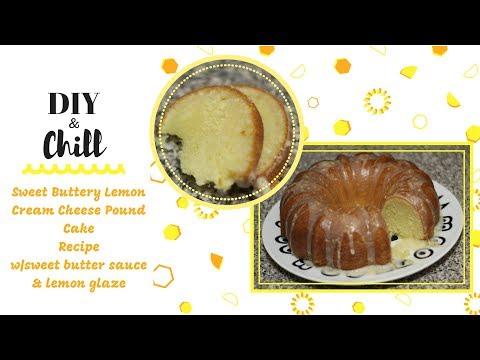 Sweet Buttery Lemon Cream Cheese Pound Cake