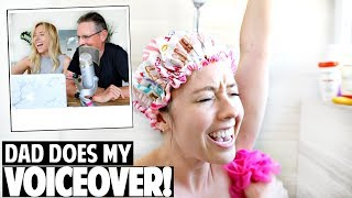 Morning Routine PARODY | Dad Does My Voiceover Challenge!